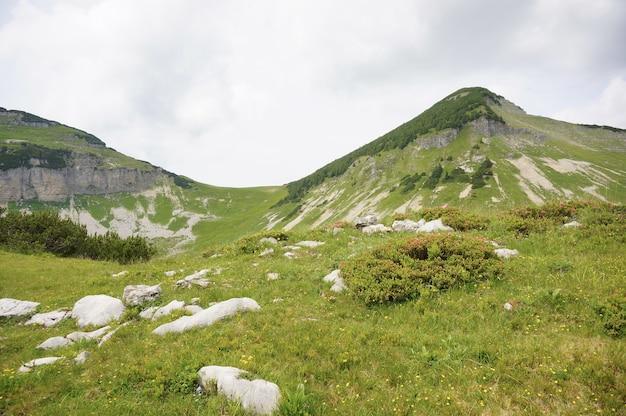 Adembenemende scène van de iconische alpen in oostenrijk