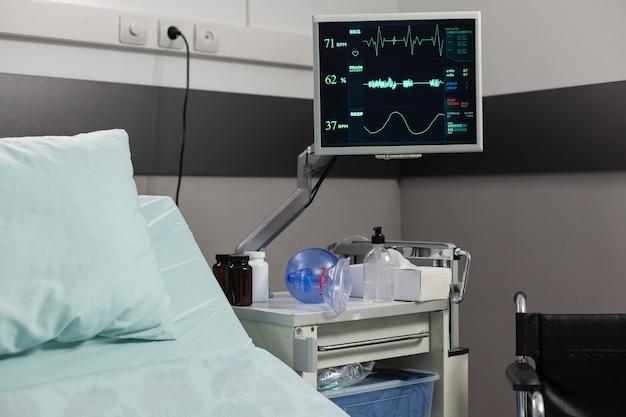 Ademhalingsmasker met beademingsapparaat voor ventilatie van de patiënt