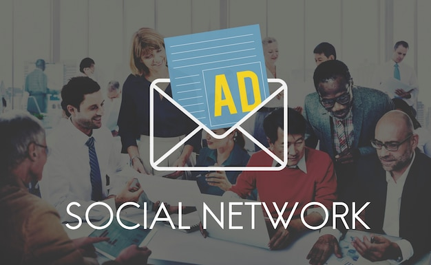 Advertentie social media internet letter concept