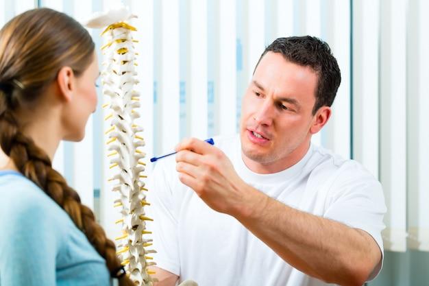 Advies - patiënt bij de fysiotherapie