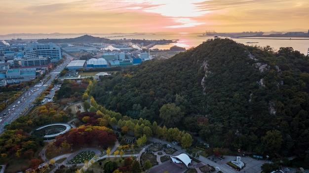 Aeria weergave van incheon industrie park