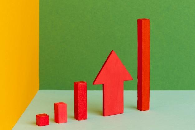 Afbeelding en statistieken concept boven weergave
