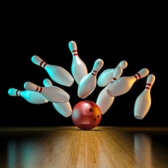 Afbeelding van bowlingactie