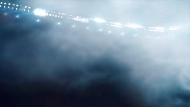 Afbeelding van de arena in rook. sport concept