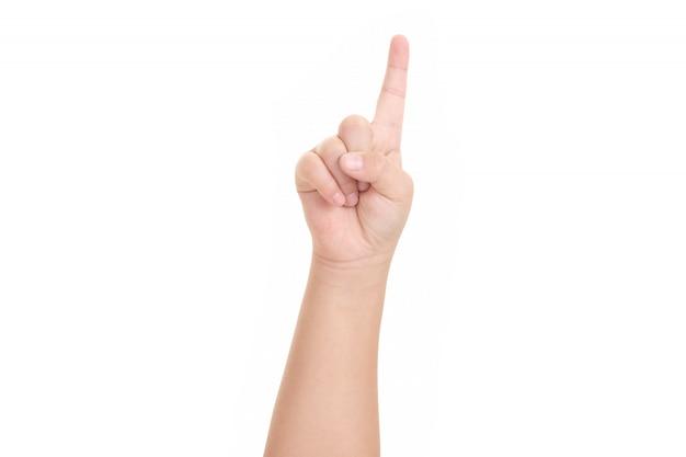 Afbeelding van de vinger van de jongen.