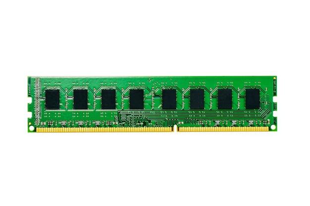 Afbeelding van een ram-geheugen op wit