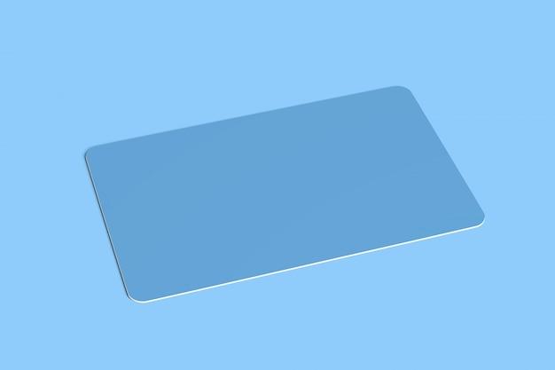 Afgeronde hoek kaart - 3d-rendering