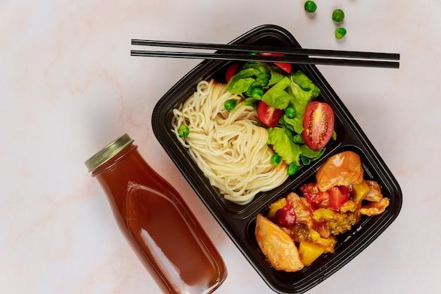 Afhalen of afhaalrestaurant eten naar huis