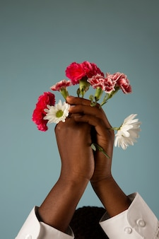 Afrikaanse gender vloeibare persoon poseren