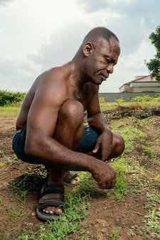 Afrikaanse senior man portret