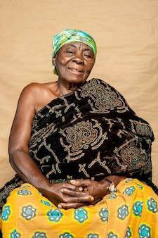 Afrikaanse senior vrouw