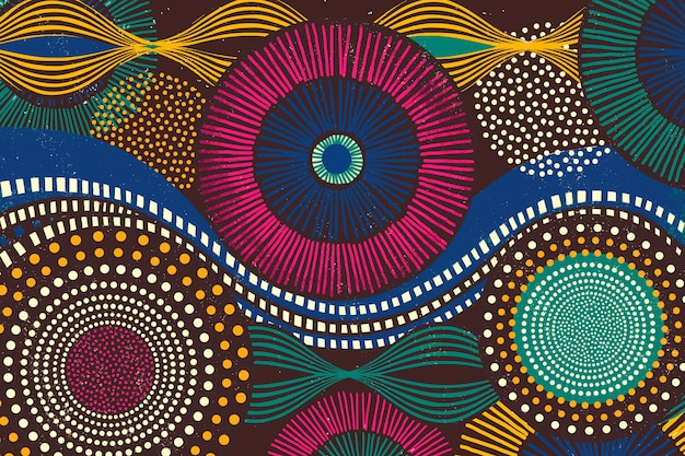 Afrikaanse stammenpatroonachtergrond in kleurrijke toon