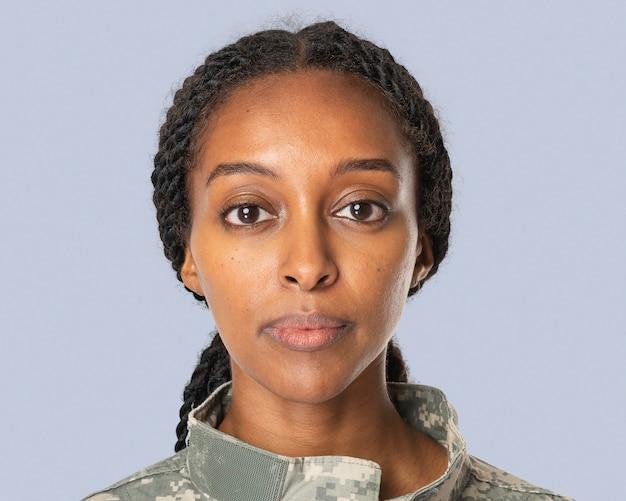 Afrikaanse vrouwelijke soldaat, banen en carrièreportret