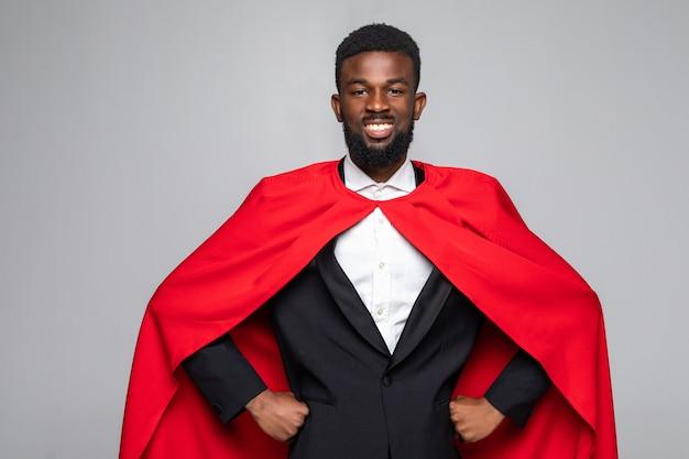 Afrikaanse zakenman superman