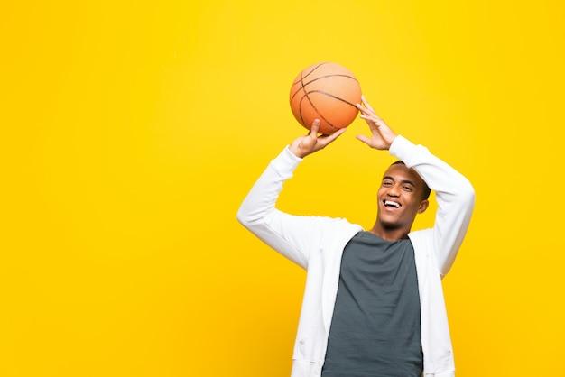 Afro-amerikaanse basketballer man