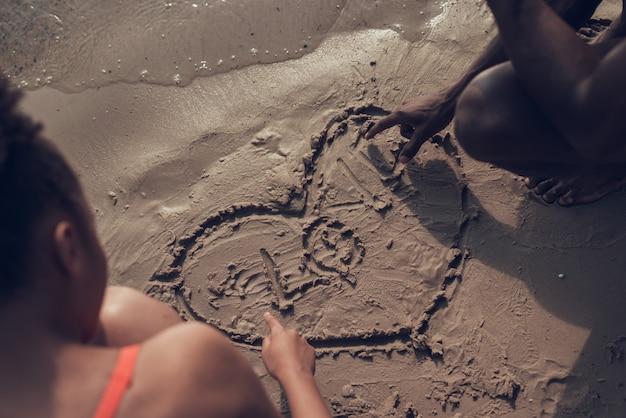 Afro-amerikaanse drows afbeelding van heart