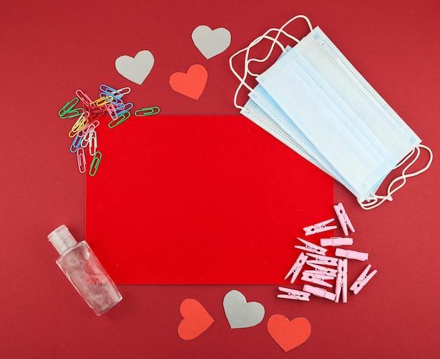 Aftelkalender voor valentijnsdag medische plat