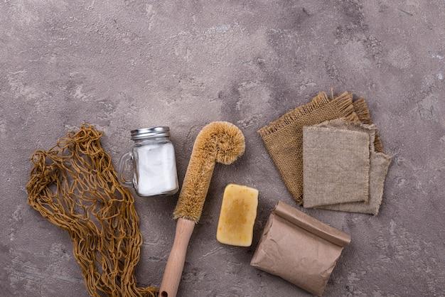 Afvalvrije natuurlijke accessoires voor reiniging