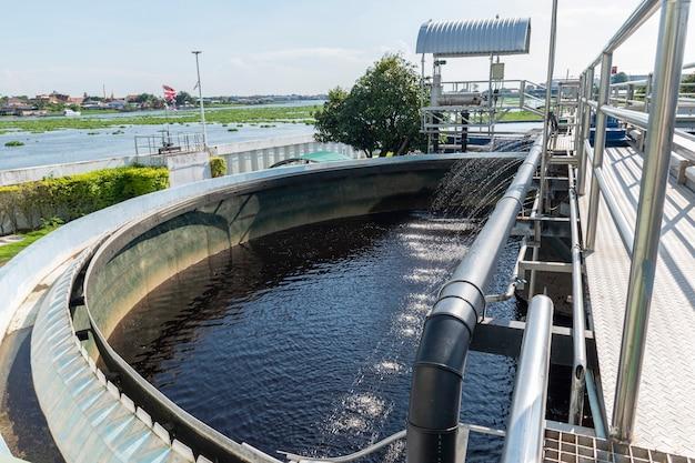 Afvalwaterzuiveringsvijvers van industriële installaties