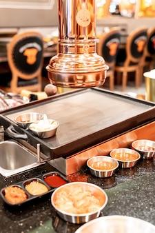 Afzuigkap in koreaans grillrestaurant