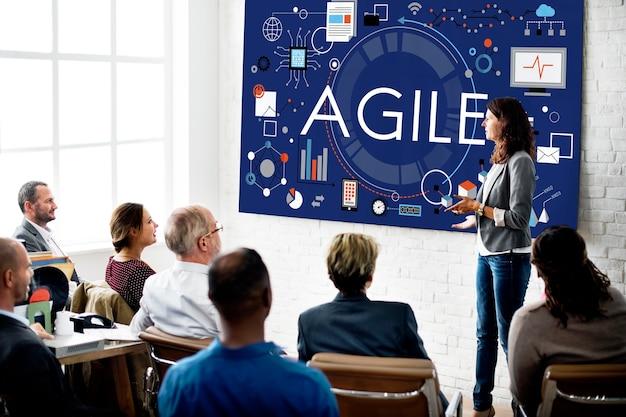 Agile agility wendbaar snel snel volant concept