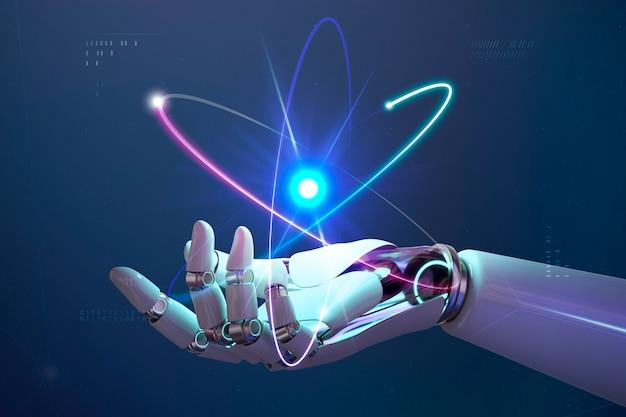 Ai kernenergie achtergrond, toekomstige innovatie van disruptieve technologie