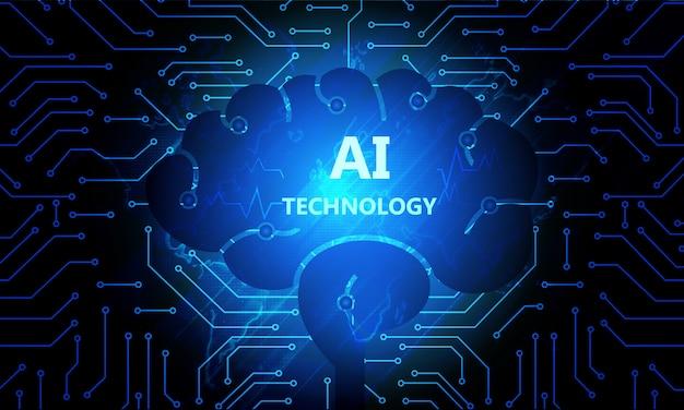 Ai-technologie achtergrond