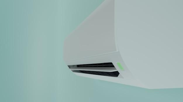 Airconditioner op de muur 3d-rendering