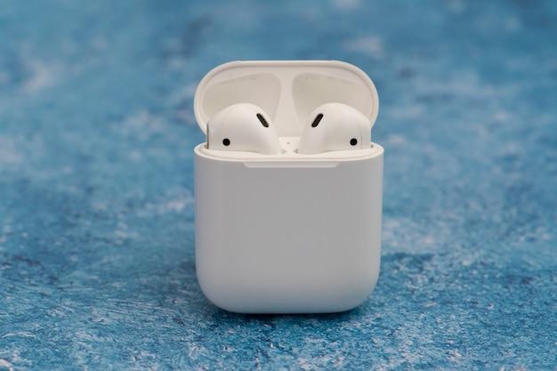 Airpods draadloze hoofdtelefoon van apple
