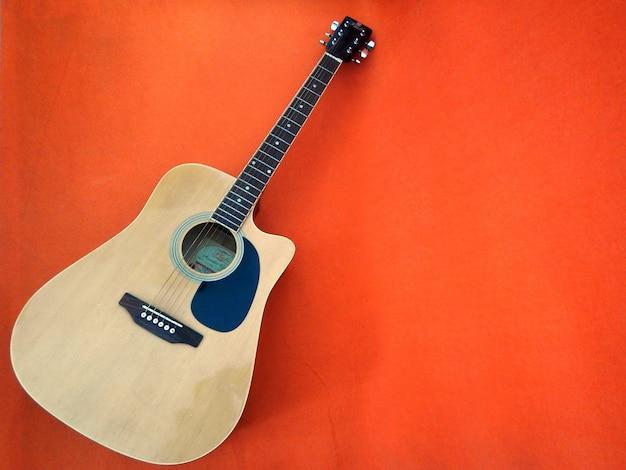 Akoestische gitaar voorgrond