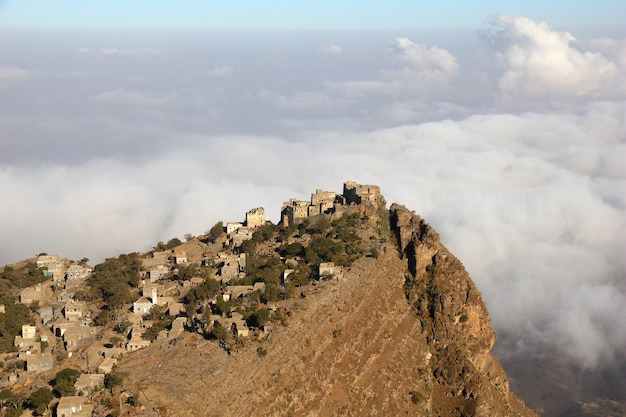 Al-mahwit dorp in jemen
