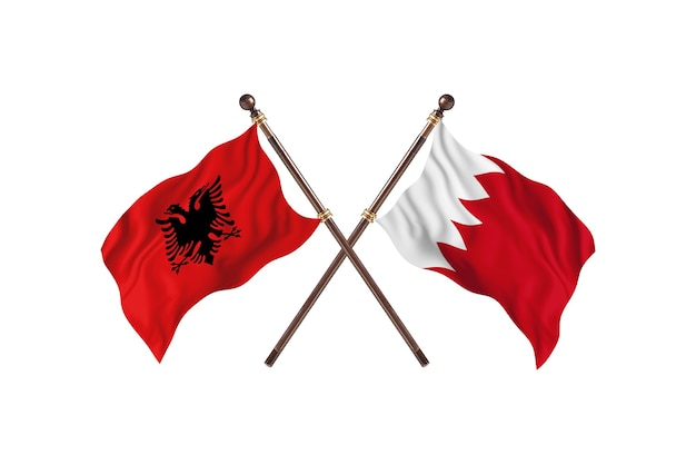 Albanië versus bahrein two flags