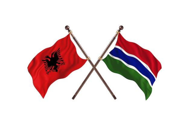 Albanië versus gambia two flags