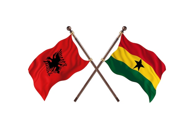 Albanië versus ghana two flags