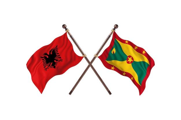 Albanië versus grenada two flags