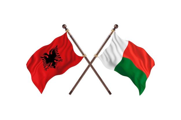 Albanië versus madagascar two flags