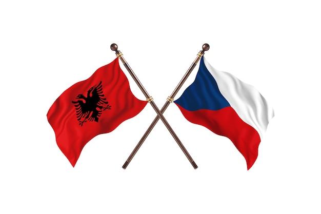 Albanië versus tsjechië two flags