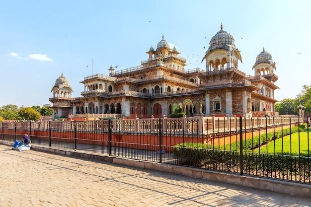 Albert hall museum in jaipur, rajasthan, india.