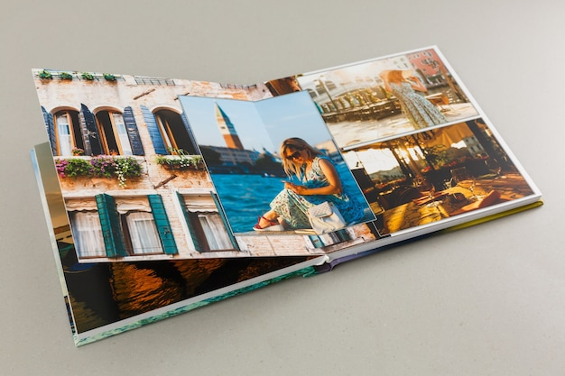 Album met foto's van reizen en vintage, fotoboek