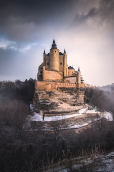 Alcazar-kasteel in segovia, spanje.