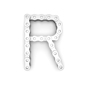 Alfabet gemaakt van fietsketting