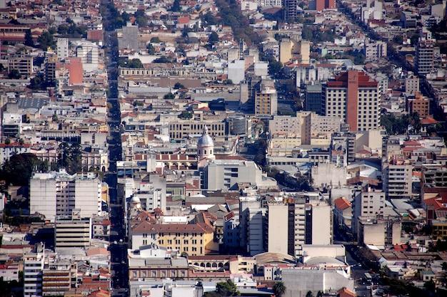 Algemene luchtmening van de stad