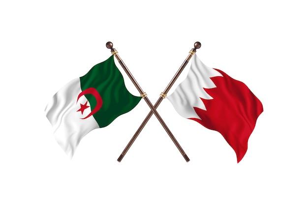 Algerije versus bahrein two flags