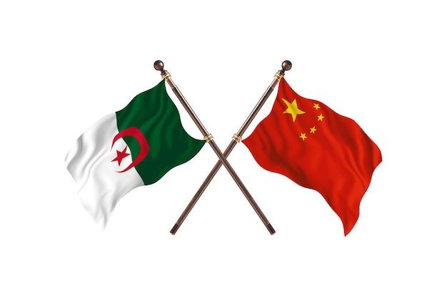 Algerije versus china two flags