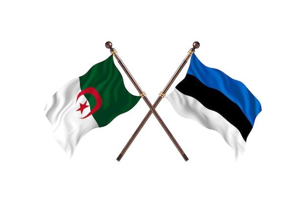 Algerije versus estland two flags
