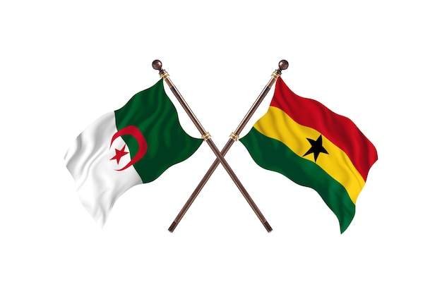 Algerije versus ghana two flags