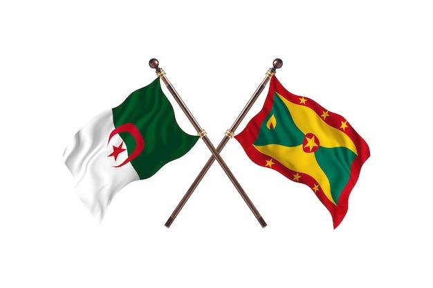 Algerije versus grenada two flags