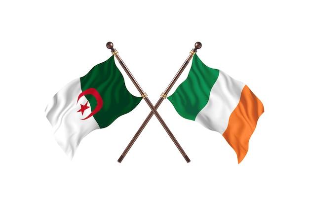 Algerije versus ierland two flags