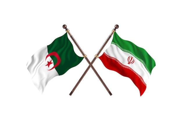 Algerije versus iran two flags