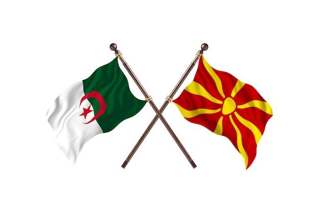 Algerije versus macedonië two flags